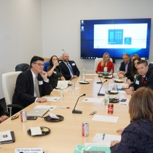 Policy committee meeting around large table